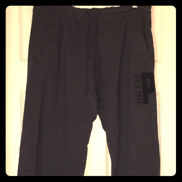 791585012793f Victoria's Secret PINK Dark Gray Boyfriend Pants